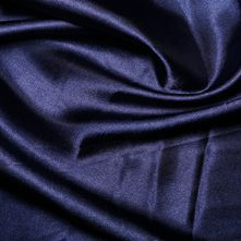 Navy Satin High Sheen Fabric 0.5m